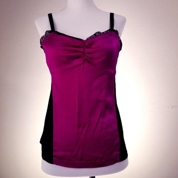 DKNY Tops - DKNY Donna Karan New York Pink Black Cami Small